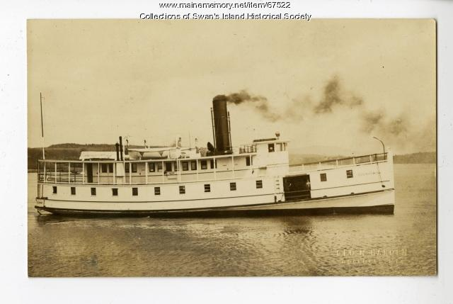 Governor Bodwell Steamboat, Swan's Island, ca. 1920