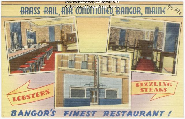 Brass Rail restaurant, Bangor, ca. 1935