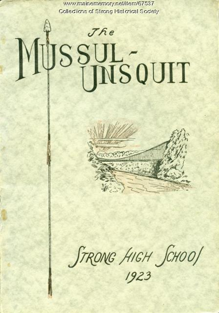 Cover of Mussul Unsquit Yearbook, Strong High School, 1923