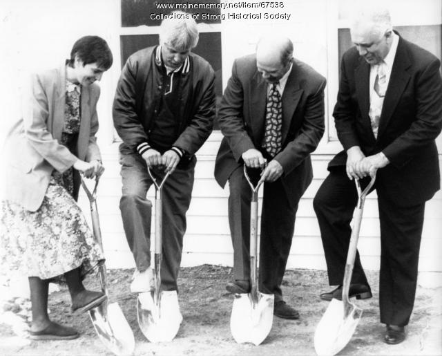 Breaking ground for renovation, Strong Public School, ca. 1996