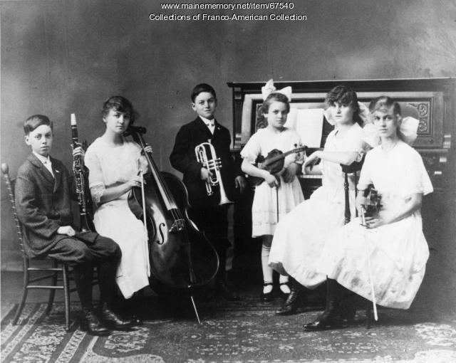 Jalbert Family Orchestra, Lewiston-Auburn, ca.1920