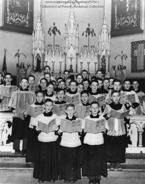 St. Louis Parish Boys Choir, Auburn, 1943