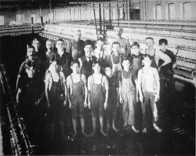 Child laborers, Lewiston, ca. 1920