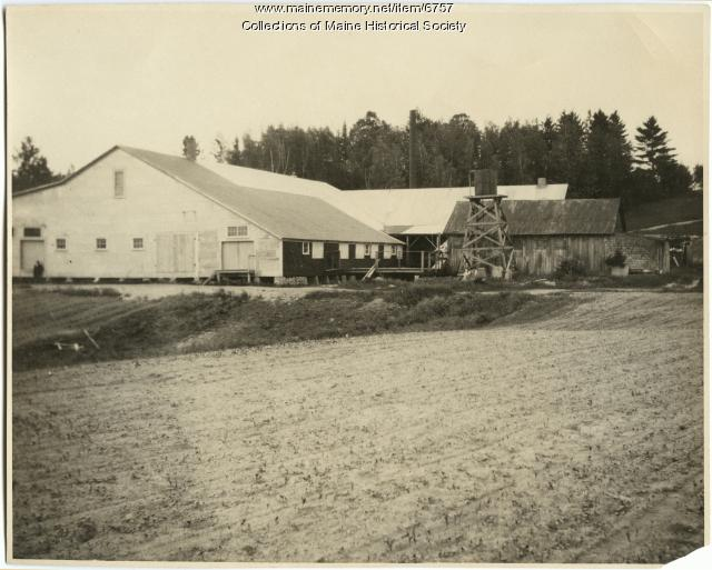 George S. Jewett corn shop, Norridgewock, 1922