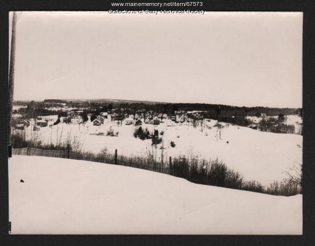 Winter Village Scene, Surry, ca. 1930