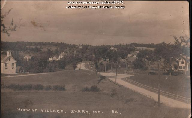 View of village, Surry, ca. 1930