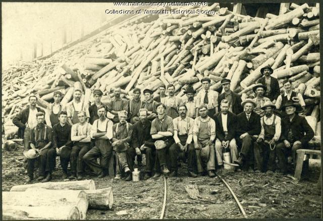 Forest Paper Co. workers, Yarmouth, ca. 1890