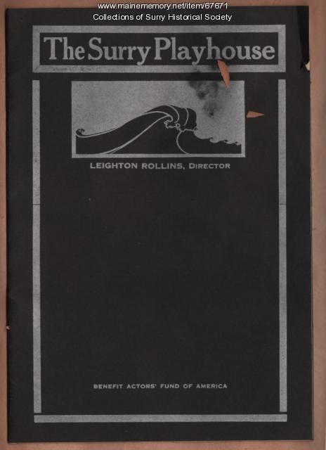 Playhouse Program, Surry, 1929