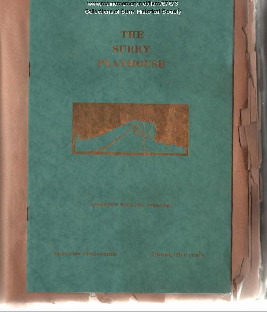 Playhouse program cover, Surry, 1929