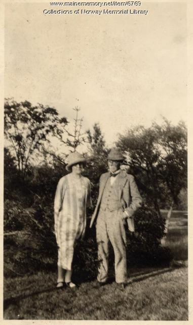 Charles Asbury Stephens and wife, Norway, ca. 1920