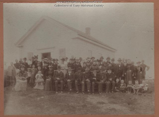 Civil War Veterans, West Surry School, Surry, ca. 1890