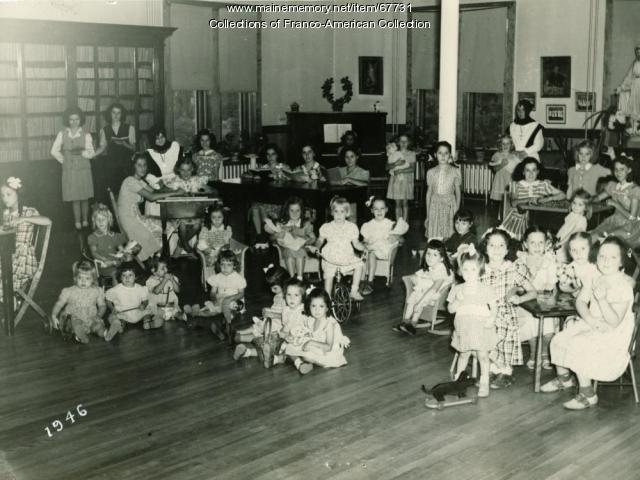 Christmas at St Joseph's Orphanage, Lewiston, 1946