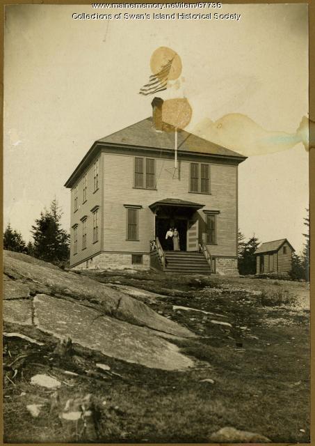 Minturn Schoolhouse, Swan's Island, ca. 1930