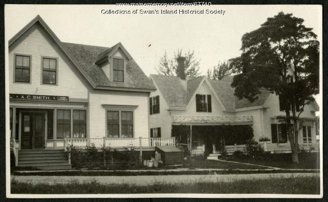 Andrew Smith's store, Swan's Island, ca. 1940