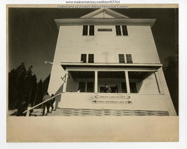 Odd Fellows Hall after repairs, Swan's Island, ca. 1985