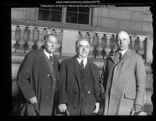 Clarence Darrow, William Pattangal, and Mr. Grey, Portland, 1927