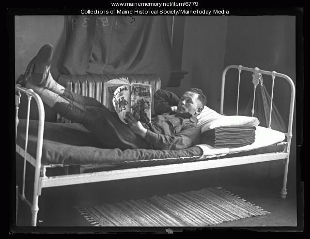 Soldier relaxing, Fort Williams, 1927