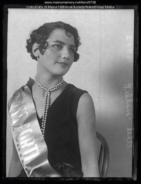 Ethel Mallett, Miss Portland, 1927