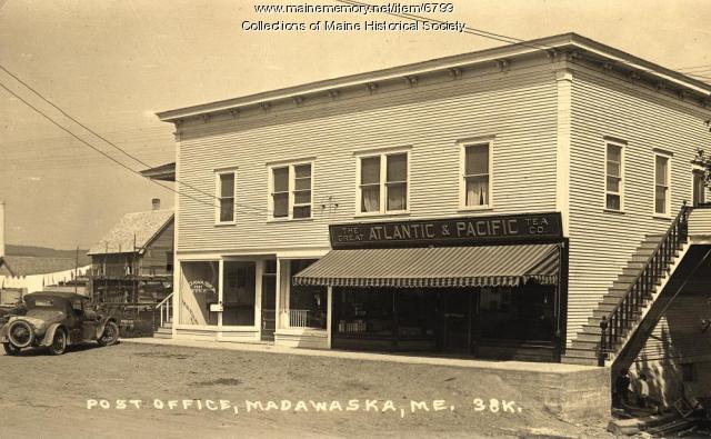 A & P store and Post Office, Madawaska, ca. 1920