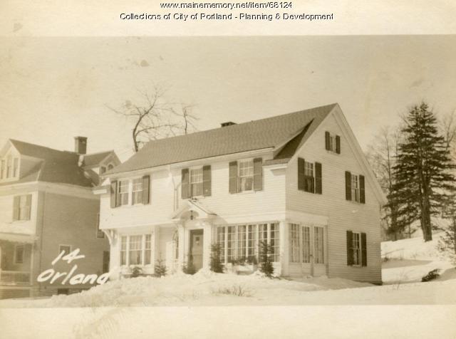 14 Orland Avenue, Portland, 1924
