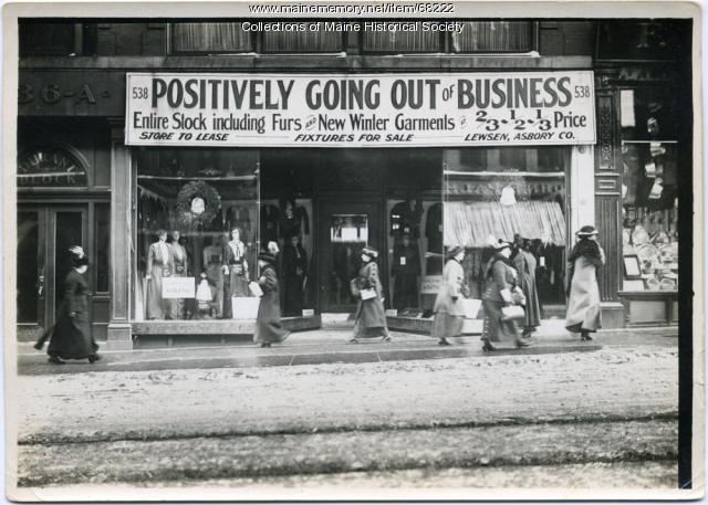 Lewsen, Asbory Cloaks sale, Portland, 1912