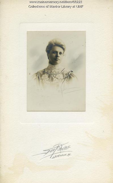 Carolyn Stone, Farmington State Normal School, ca. 1907
