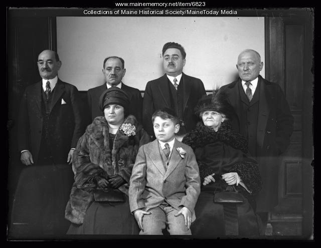 Irving Pinansky Bar Mitzvah portrait, Portland, 1929