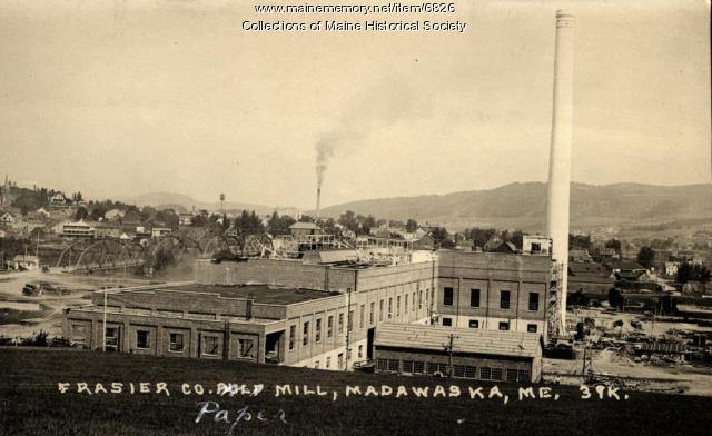 Fraser Co. paper mill, Madawaska, ca. 1925