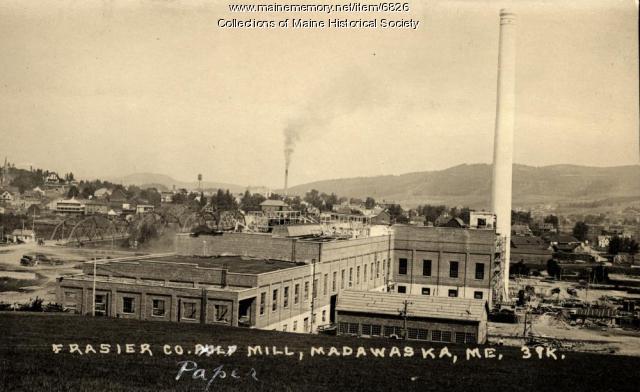 Fraser Co. paper mill, Madawaska, ca. 1925