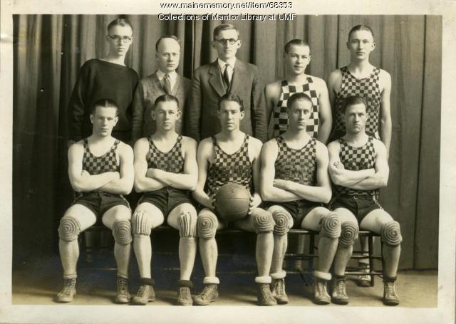 Boys' Basketball Team, Farmington State Normal School, 1928