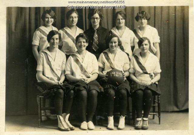 First Year basketball team, Farmington State Normal School, 1928