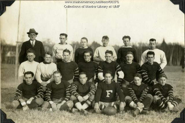 Football team, Farmington State Normal School, 1927