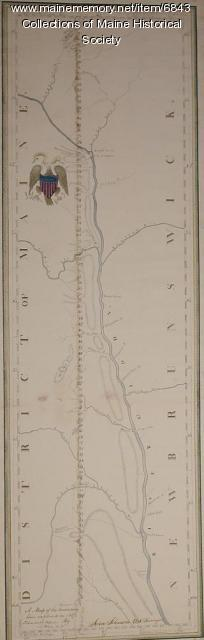 A map of the boundary line explored in 1817