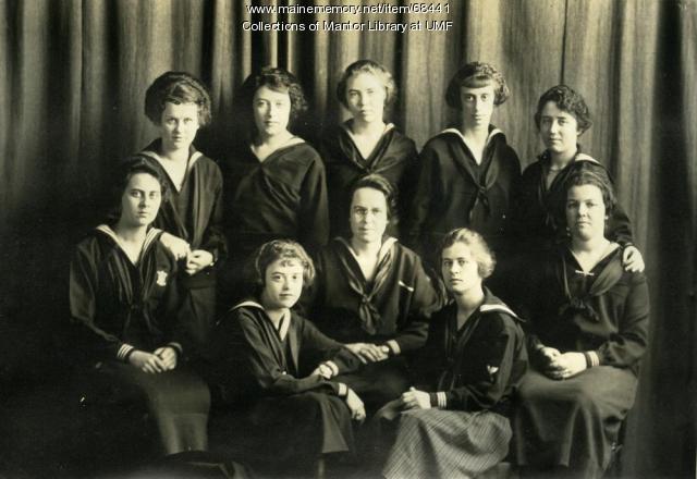 Christian Youth Association senior cabinet, Farmington State Normal School, 1921