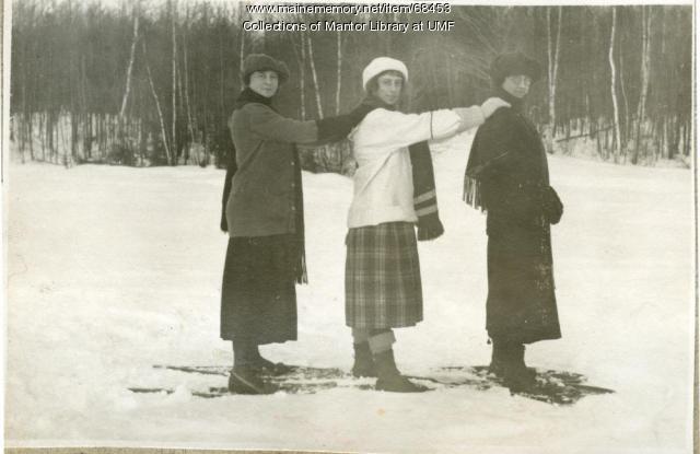 Snowshoeing, Farmington, 1922