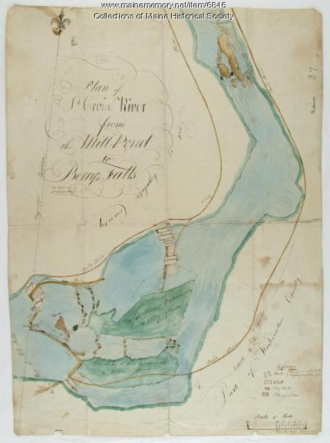 Plan of Saint Croix River, Calais, 1807