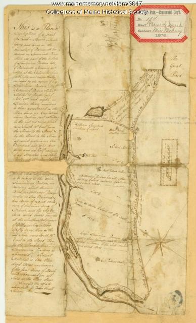 Plan of a division of land belonging to Dominicus Jordan