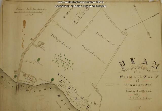 Farm plan, Congin, ca. 1840