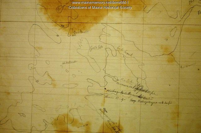Indian map, Lake Vermillion, Sandy Point