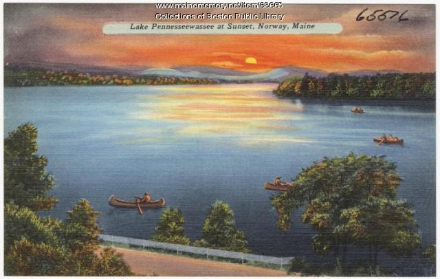Lake Pennesseewassee, Norway, ca. 1935