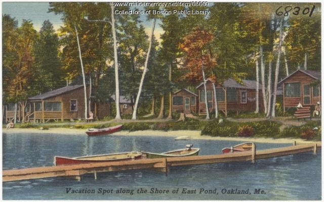 East Pond and camps, Oakland, ca. 1935