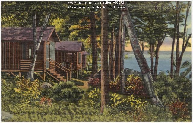 Camp at Messalonskee Lake, Oakland, ca. 1935