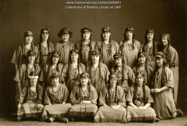 Soangetaha Campfire Girls, Farmington State Normal School, 1915