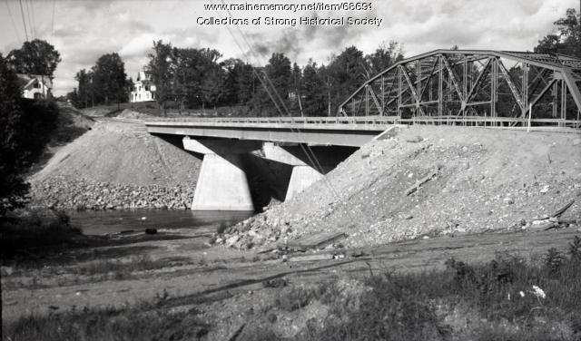 Tri-span bridge completed, Strong, 1965