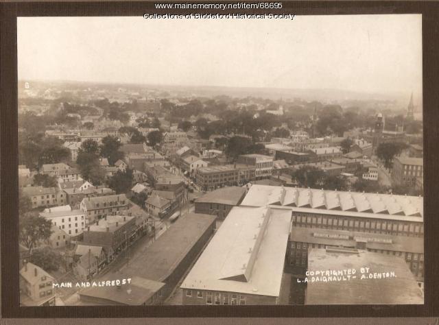 Main & Alfred Streets, Biddeford, ca. 1915