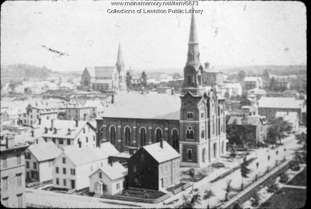 Pine Street Congregational Church, Lewiston, ca. 1900