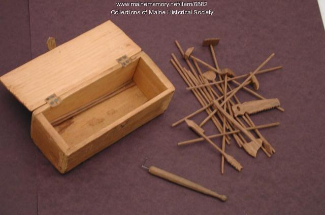 Jack-straws game, Portland, ca. 1872