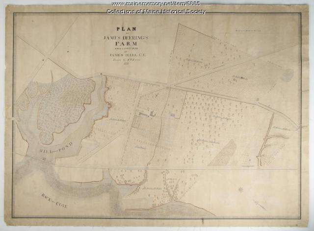 Plan of James Deering's Farm, Portland, 1843