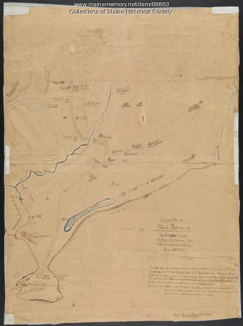 Copy of a plan of Black Point, Scarborough, 1741