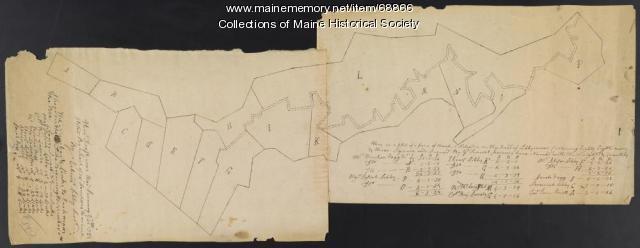 Libby River land, Scarborough, 1794
